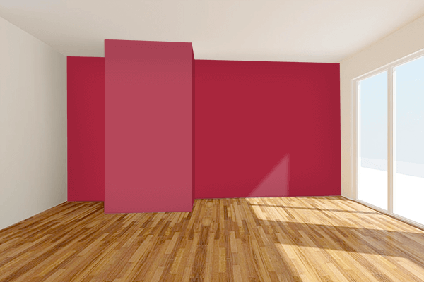 Pretty Photo frame on Raspberry Red (RAL) color Living room wal color