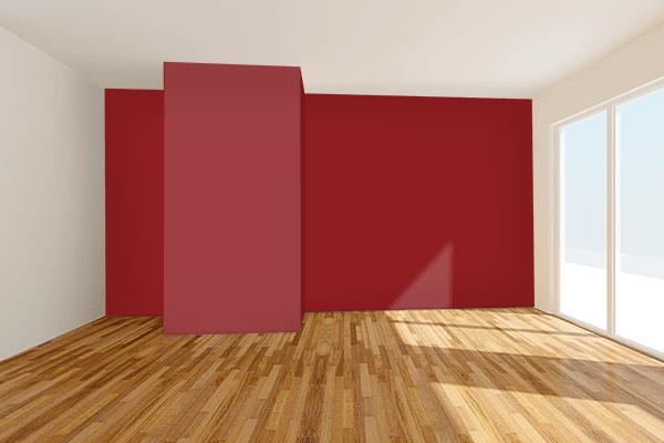Pretty Photo frame on 真朱 (Shinshu) color Living room wal color