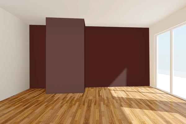 Pretty Photo frame on 鳶色 (Tobi-iro) color Living room wal color