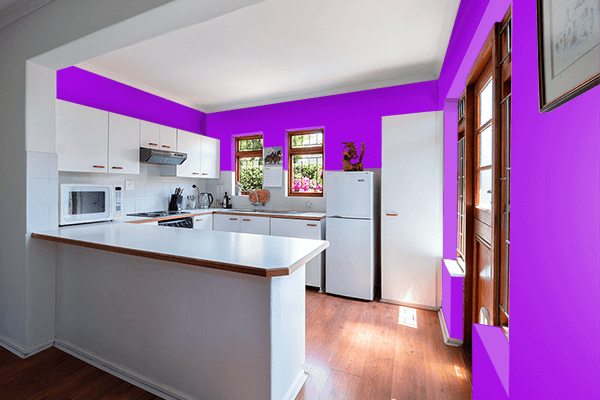 Pretty Photo frame on Spectrum Violet color kitchen interior wall color