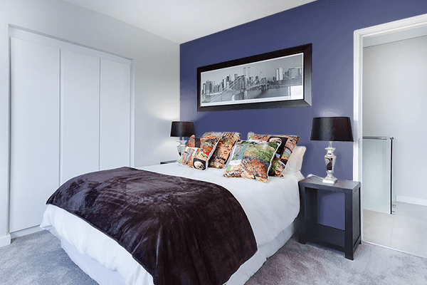 Pretty Photo frame on Royal Blue CMYK color Bedroom interior wall color