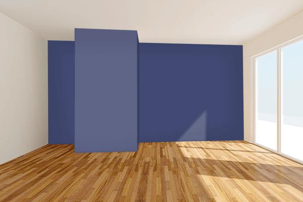 Pretty Photo frame on Royal Blue CMYK color Living room wal color