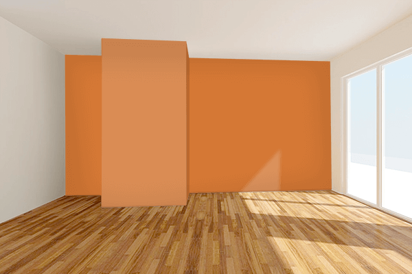 Pretty Photo frame on 朽葉色 (Kuchiba-iro) color Living room wal color