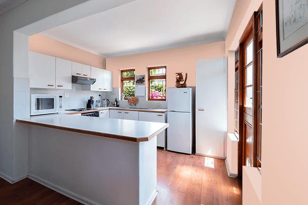 Pretty Photo frame on Skin color kitchen interior wall color