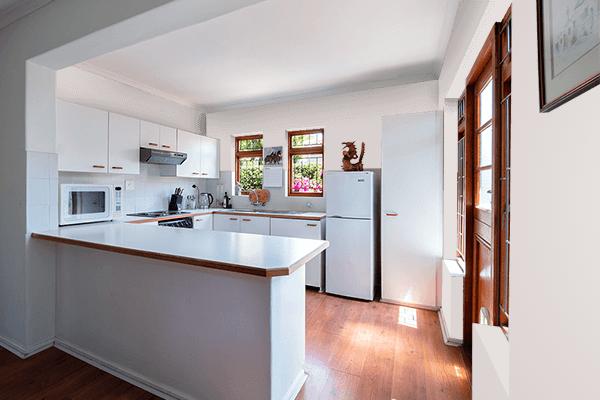 Pretty Photo frame on Smoky Cream color kitchen interior wall color
