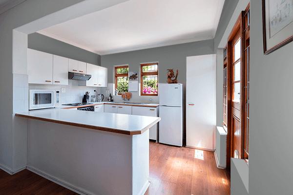 Pretty Photo frame on Pearl Dark Grey (RAL) color kitchen interior wall color