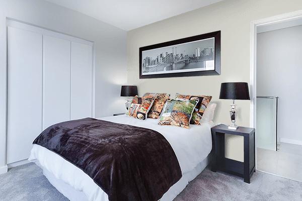 Pretty Photo frame on Pastel Grey color Bedroom interior wall color