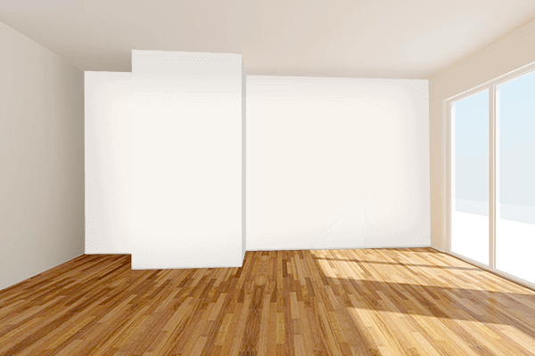 Pretty Photo frame on Alabaster color Living room wal color