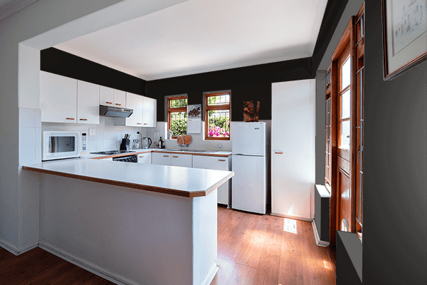 Pretty Photo frame on 黒色 (Kokushoku) color kitchen interior wall color