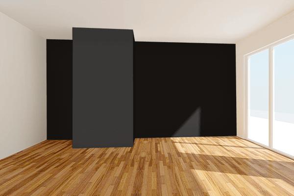 Pretty Photo frame on 黒色 (Kokushoku) color Living room wal color