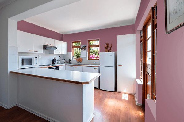Pretty Photo frame on Raspberry Glacé color kitchen interior wall color