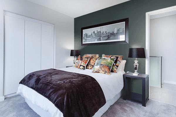 Pretty Photo frame on 御納戸色 (Onando-iro) color Bedroom interior wall color