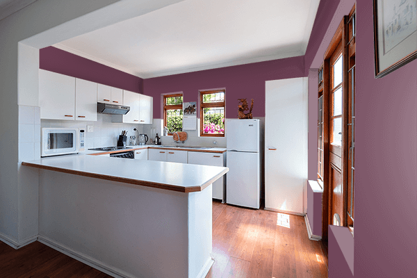 Pretty Photo frame on Passionfruit color kitchen interior wall color