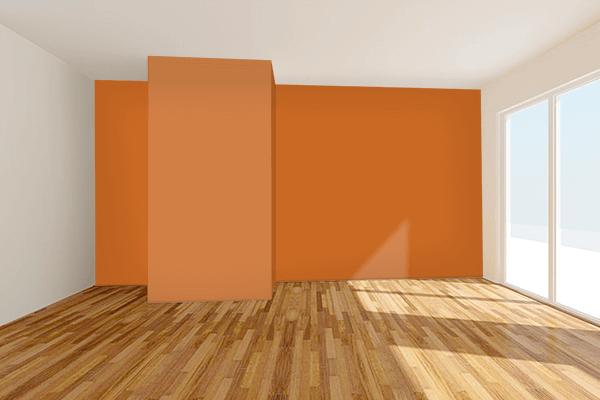 Pretty Photo frame on 琥珀色 (Kohaku-iro) color Living room wal color