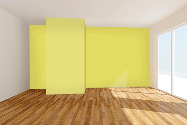 Pretty Photo frame on Light Gold Matte color Living room wal color