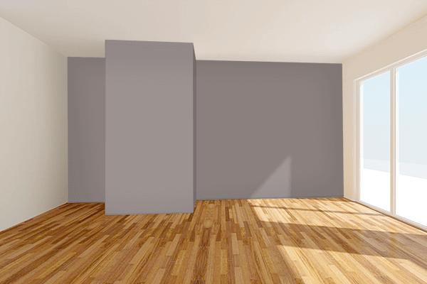 Pretty Photo frame on Mink color Living room wal color