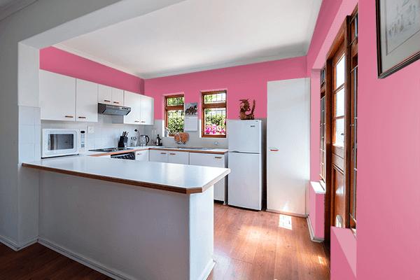 Pretty Photo frame on Blush color kitchen interior wall color