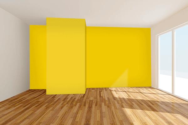 Pretty Photo frame on Sunburst color Living room wal color