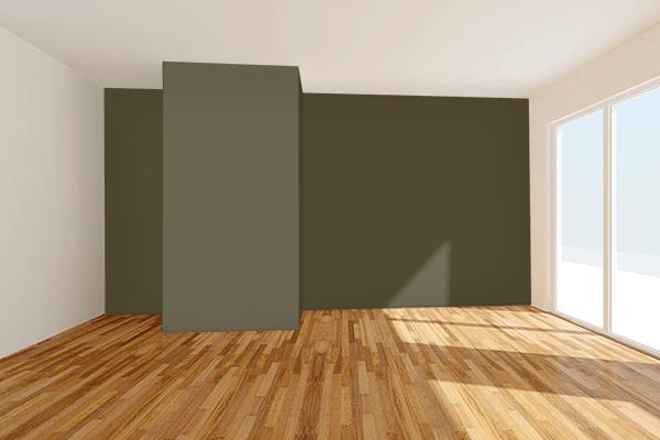 Pretty Photo frame on 璃寛茶 (Rikancha) color Living room wal color