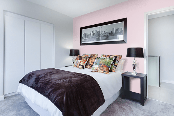 Pretty Photo frame on Soft Pale Pink color Bedroom interior wall color