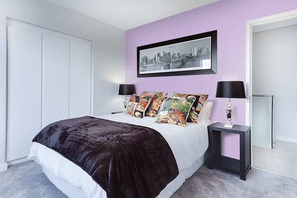 Pretty Photo frame on Mauve CMYK color Bedroom interior wall color