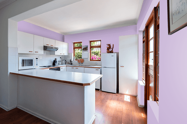 Pretty Photo frame on Mauve CMYK color kitchen interior wall color