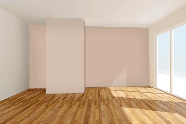 Pretty Photo frame on Spring Beige color Living room wal color