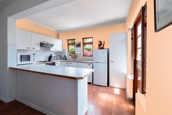 Pretty Photo frame on Cream Blush color kitchen interior wall color