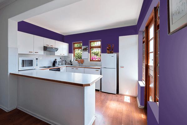 Pretty Photo frame on Violet Indigo color kitchen interior wall color