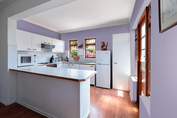 Pretty Photo frame on Antique Viola color kitchen interior wall color