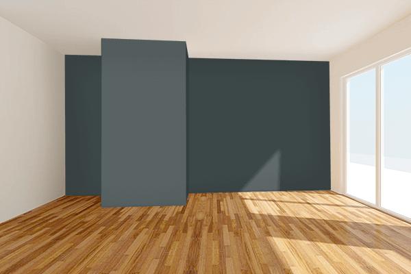 Pretty Photo frame on Panda Black color Living room wal color