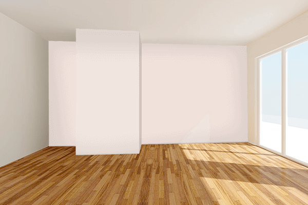 Pretty Photo frame on Sahara Light Red color Living room wal color