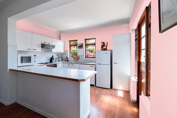 Pretty Photo frame on Strawberry Cream color kitchen interior wall color