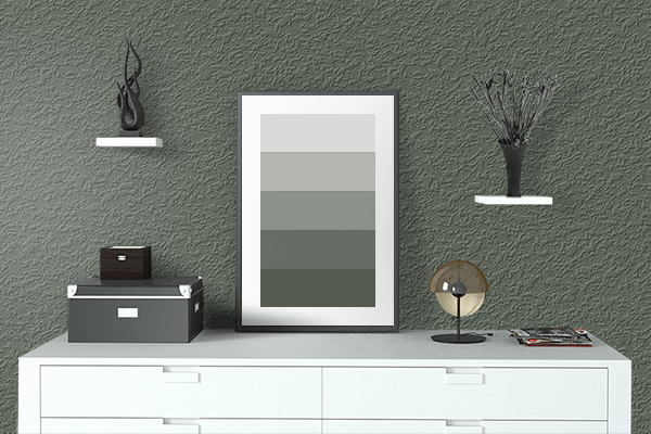 Pretty Photo frame on OG-107 color drawing room interior textured wall