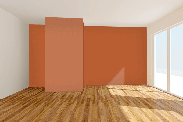 Pretty Photo frame on Gold Varnish Brown color Living room wal color