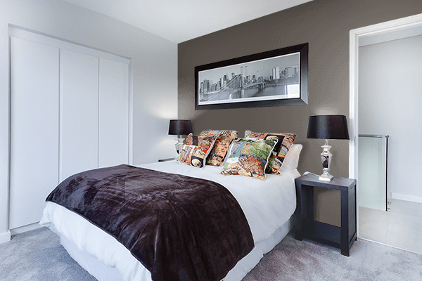 Pretty Photo frame on 藍鼠 (Ainezumi) color Bedroom interior wall color