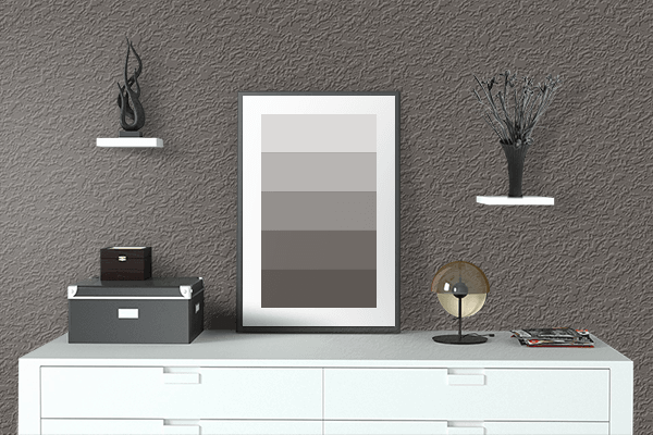 Pretty Photo frame on 藍鼠 (Ainezumi) color drawing room interior textured wall