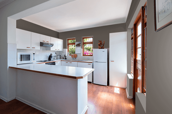 Pretty Photo frame on 藍鼠 (Ainezumi) color kitchen interior wall color