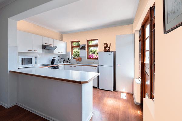 Pretty Photo frame on Summer Peach color kitchen interior wall color