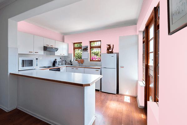 Pretty Photo frame on Light Blush color kitchen interior wall color