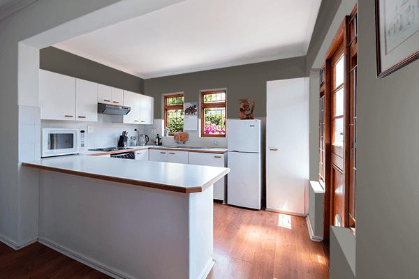 Pretty Photo frame on Black Pepper color kitchen interior wall color