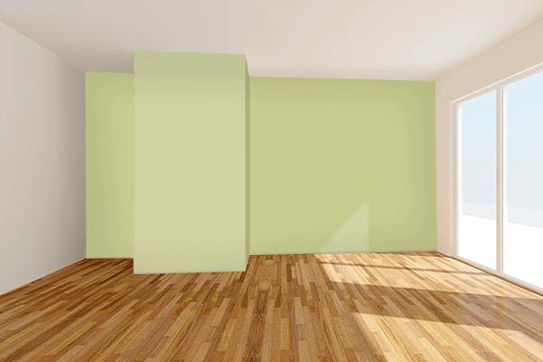 Pretty Photo frame on Springtide Green color Living room wal color
