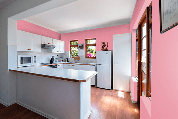 Pretty Photo frame on Baby Pink (RAL Design) color kitchen interior wall color