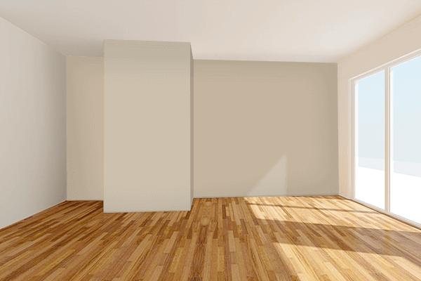 Pretty Photo frame on Sandstorm color Living room wal color