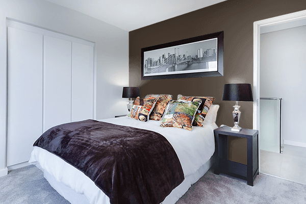 Pretty Photo frame on Jacko Bean color Bedroom interior wall color