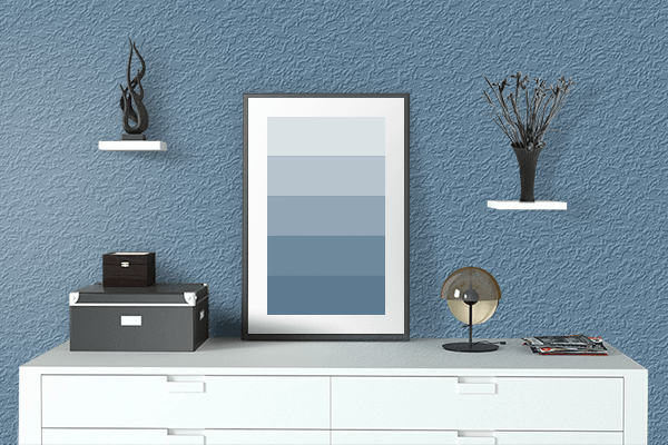 Pretty Photo frame on Rackley color drawing room interior textured wall