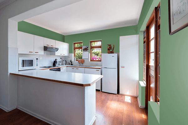 Pretty Photo frame on Axolotl color kitchen interior wall color
