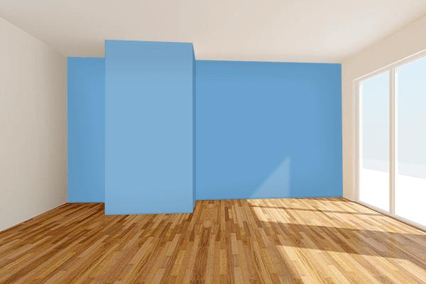 Pretty Photo frame on Iceberg color Living room wal color