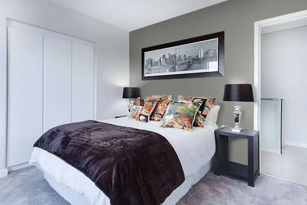 Pretty Photo frame on Gray (HTML/CSS Gray) color Bedroom interior wall color