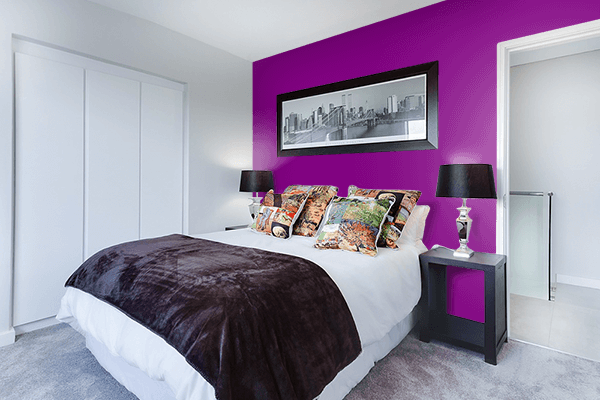 Pretty Photo frame on Patriarch color Bedroom interior wall color